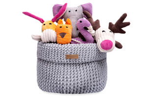 basket for dog toys