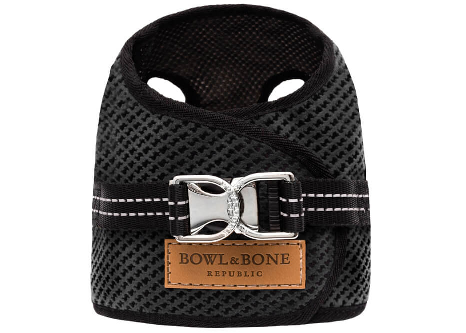 dog harness soho graphite 2ed bowl and bone republic ps1sa