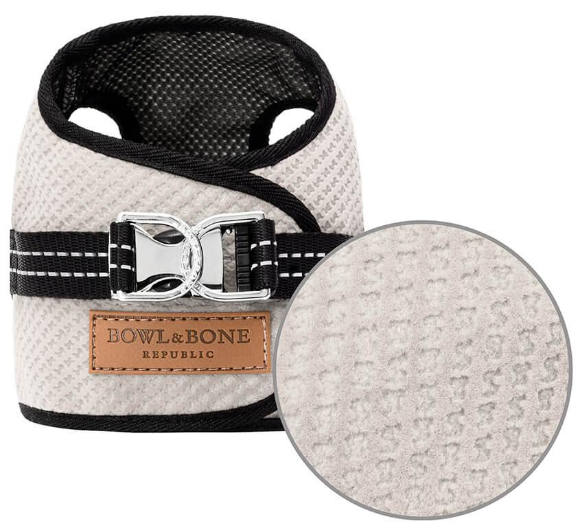 dog harness soho cream 2ed bowl and bone republic magnifier