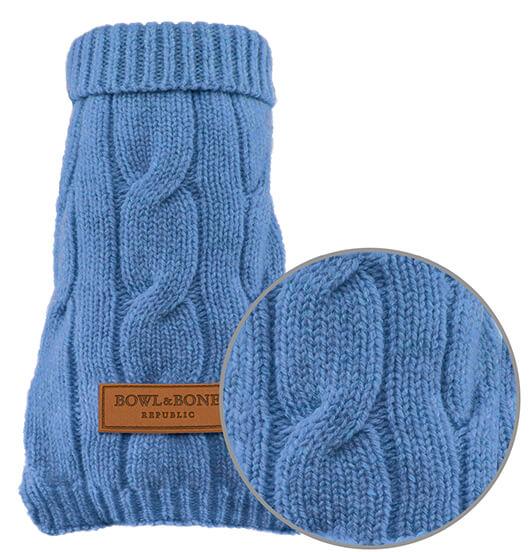 dog sweater aspen blue bowlandbonerepublic magnifier