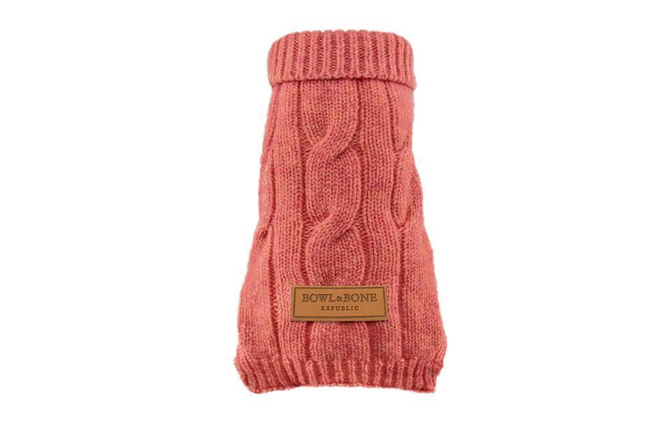 dog sweater aspen pink bowlandbonerepublic ps1sa