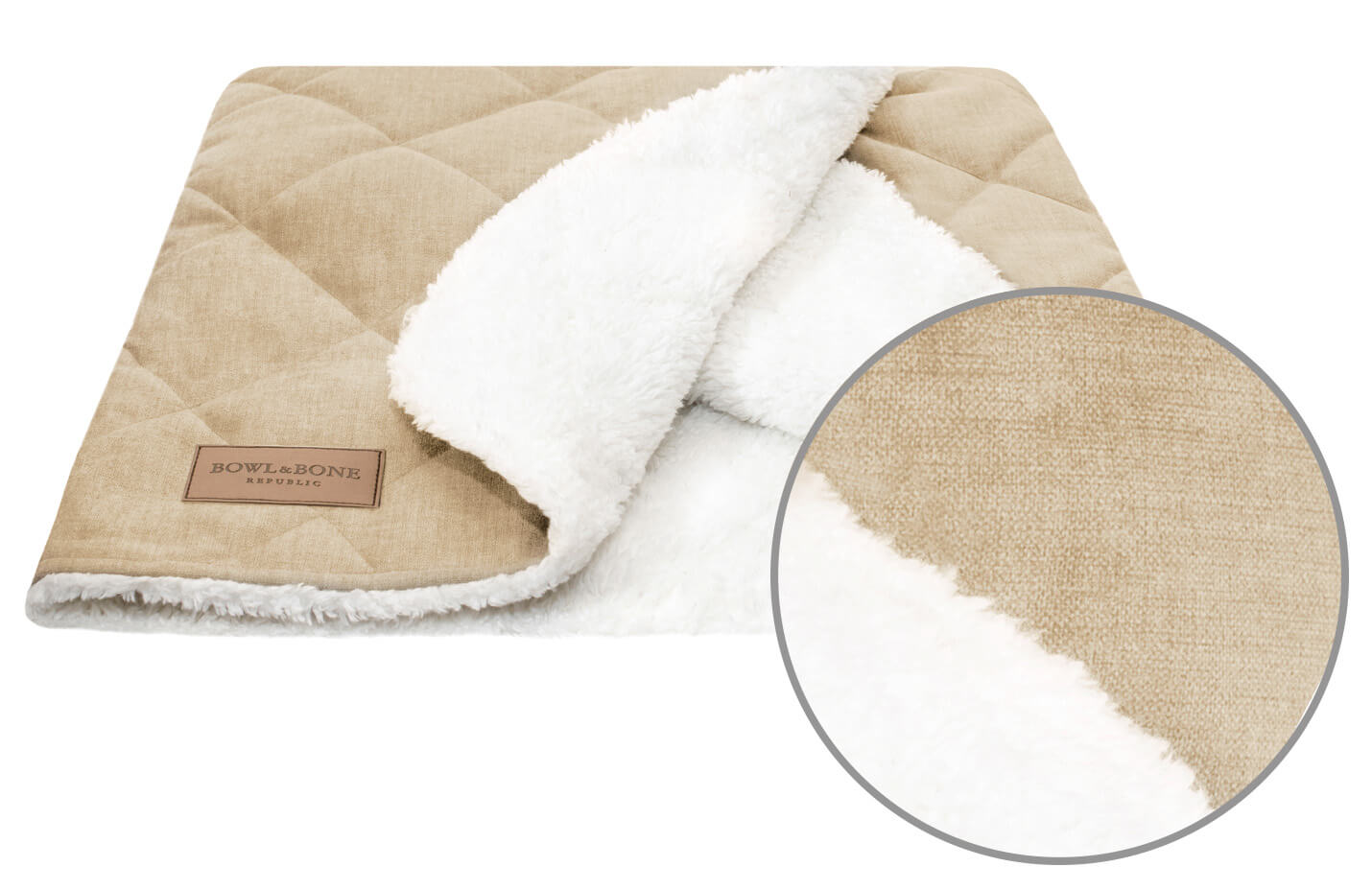 dog bed dreamy cream bowlandbonerepublic magnifier