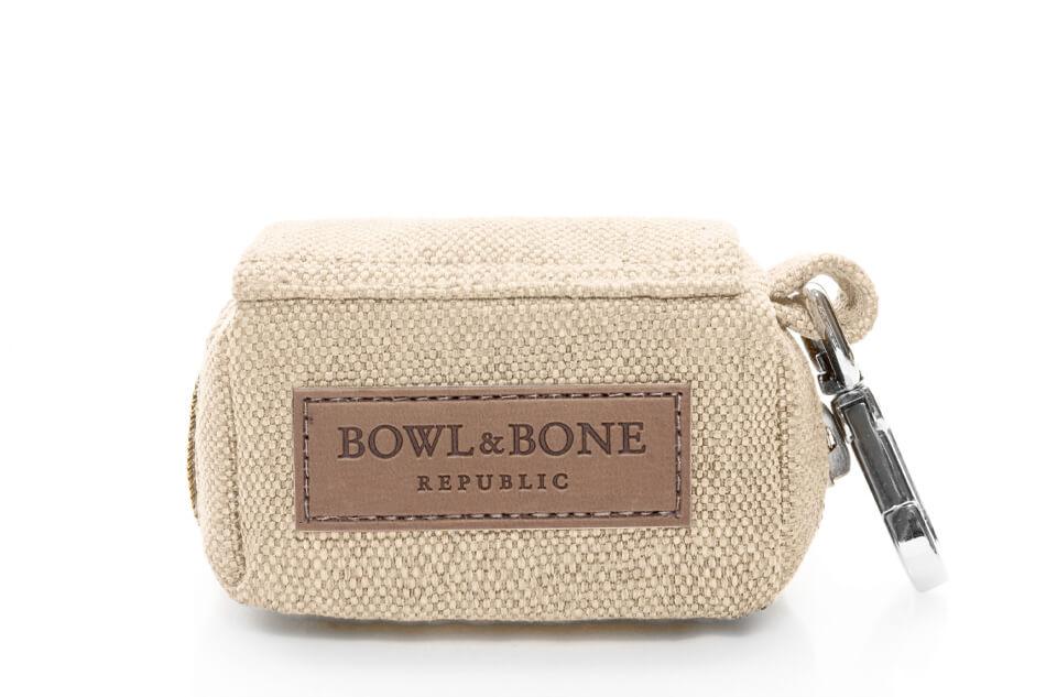 dog waste bag holder mini beige bowlandbonerepublic ps1sa