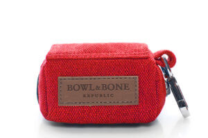 dog waste bag holder mini red bowlandbonerepublic ps1sa