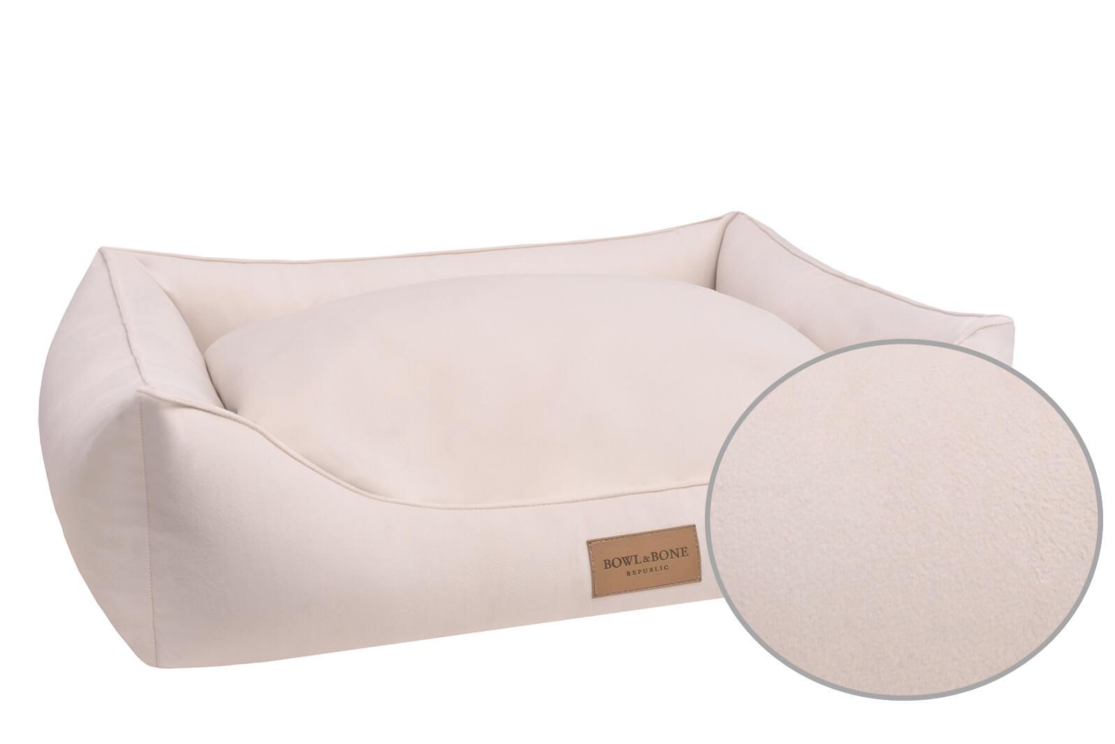 dog bed classic cream bowlandbonerepublic magnifier