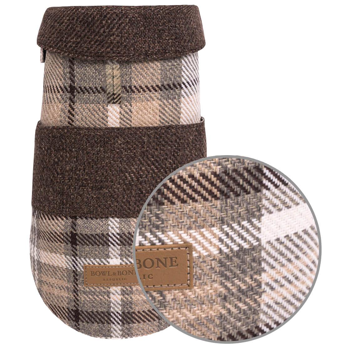 dog coat leaf brown beige bowlandbonerepublic magnifier