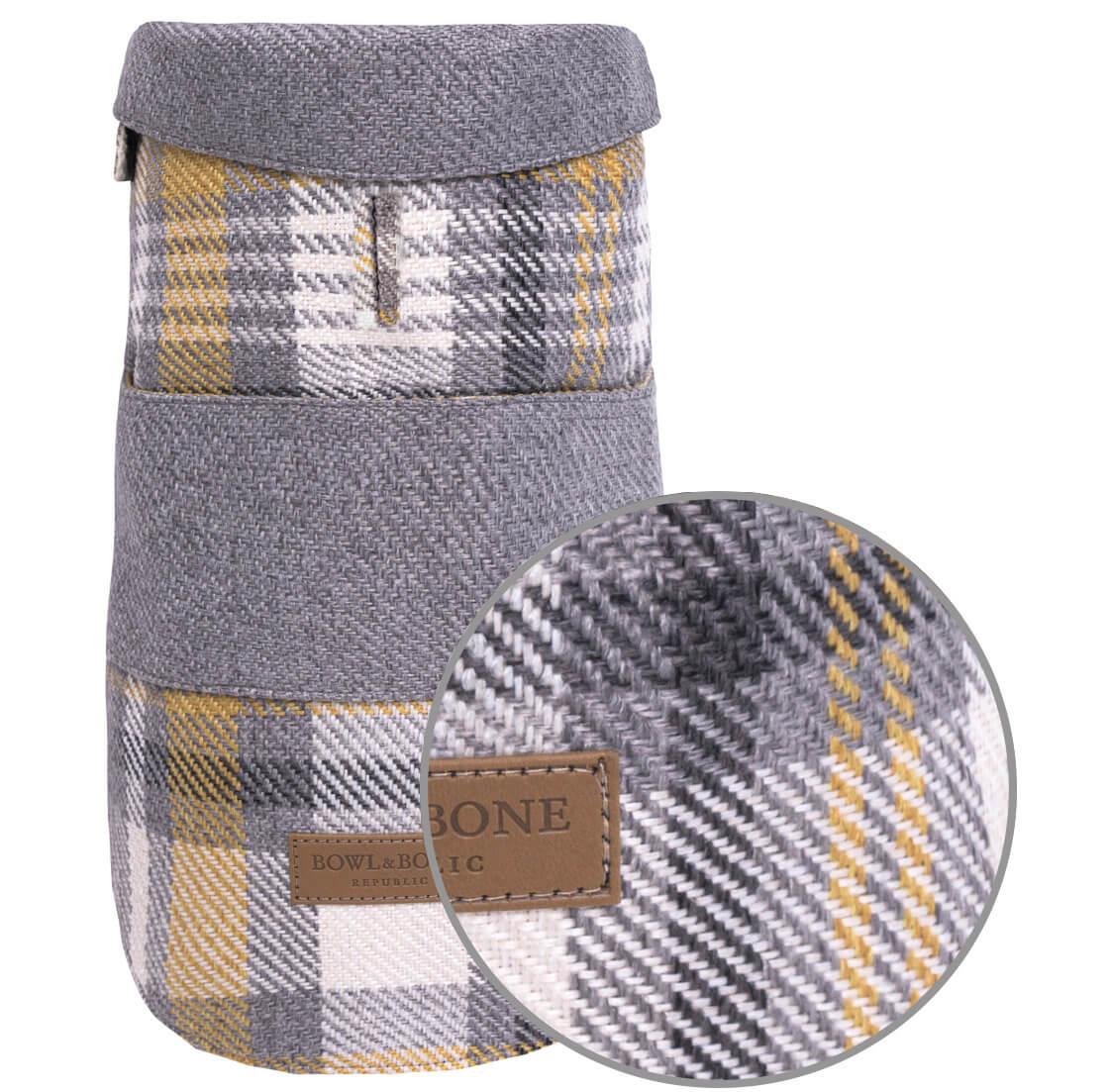 dog coat leaf grey yellow bowlandbonerepublic magnifier