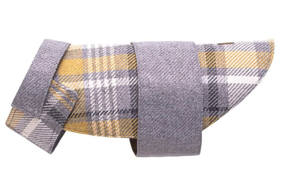dog coat leaf grey yellow bowlandbonerepublic ps2sa