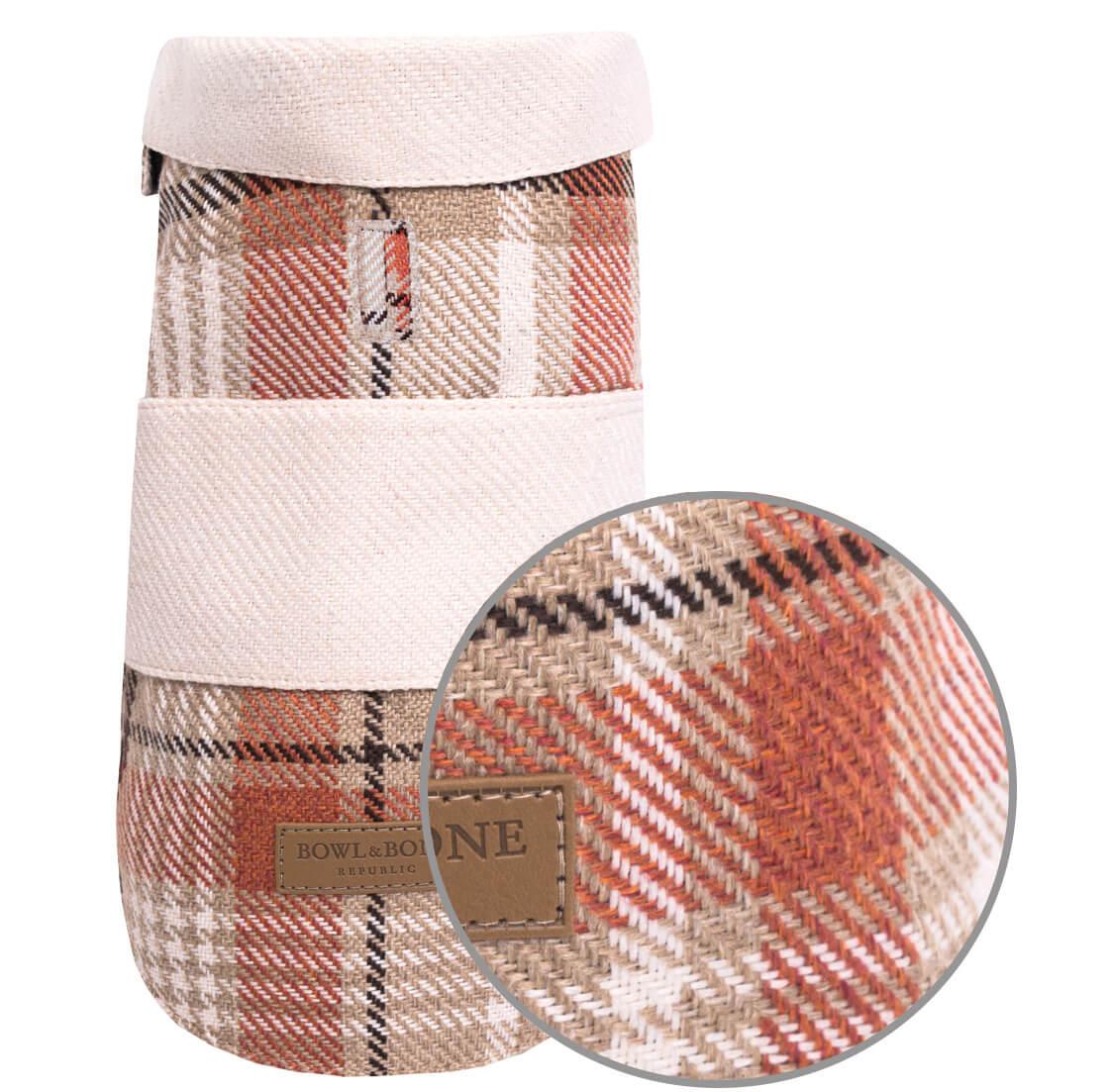 dog coat leaf orange cream bowlandbonerepublic magnifier