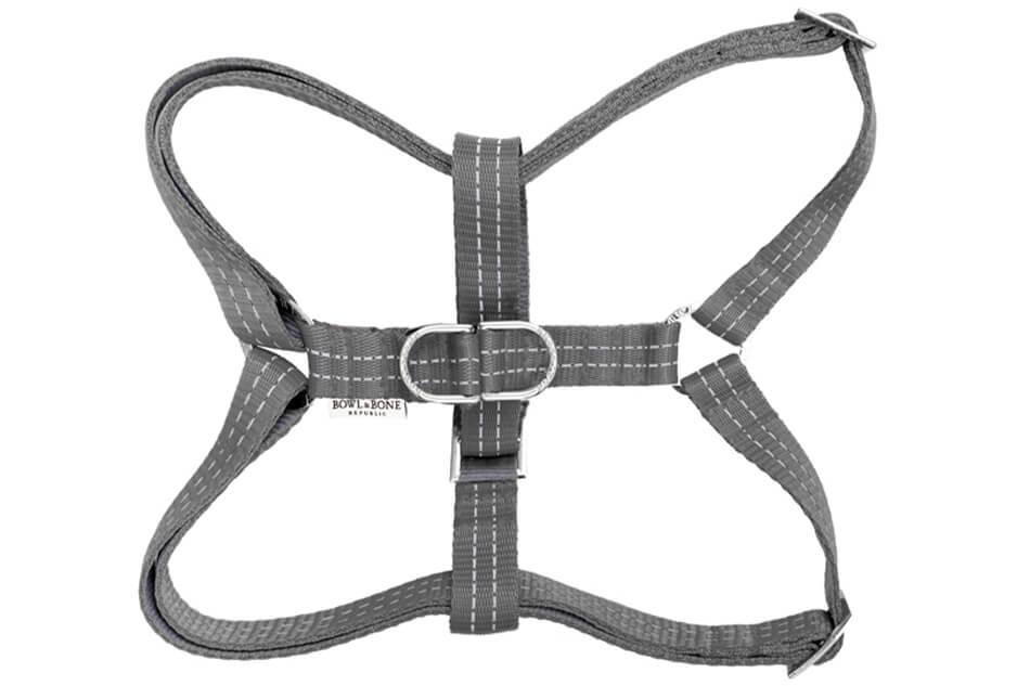 dog harness active grey bowlandbonerepublic ps1sa