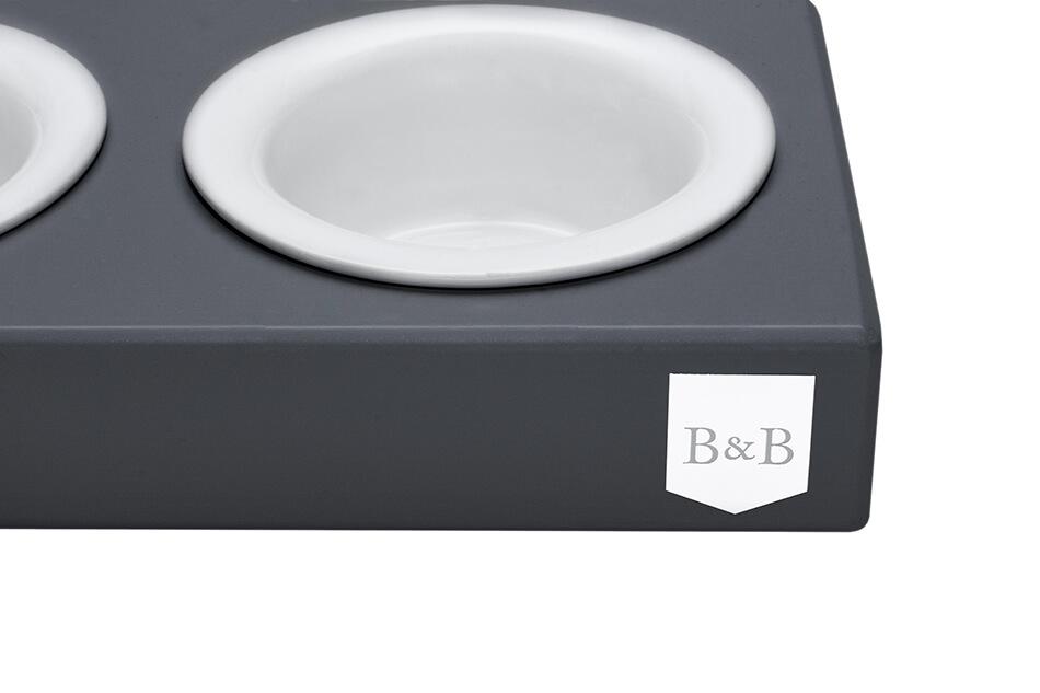 dog bowl duo ceramic graphite bowlandbonerepublic ps2sa