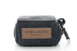 dog waste bag holder mini grey graphite bowlandbonerepublic ps1sa