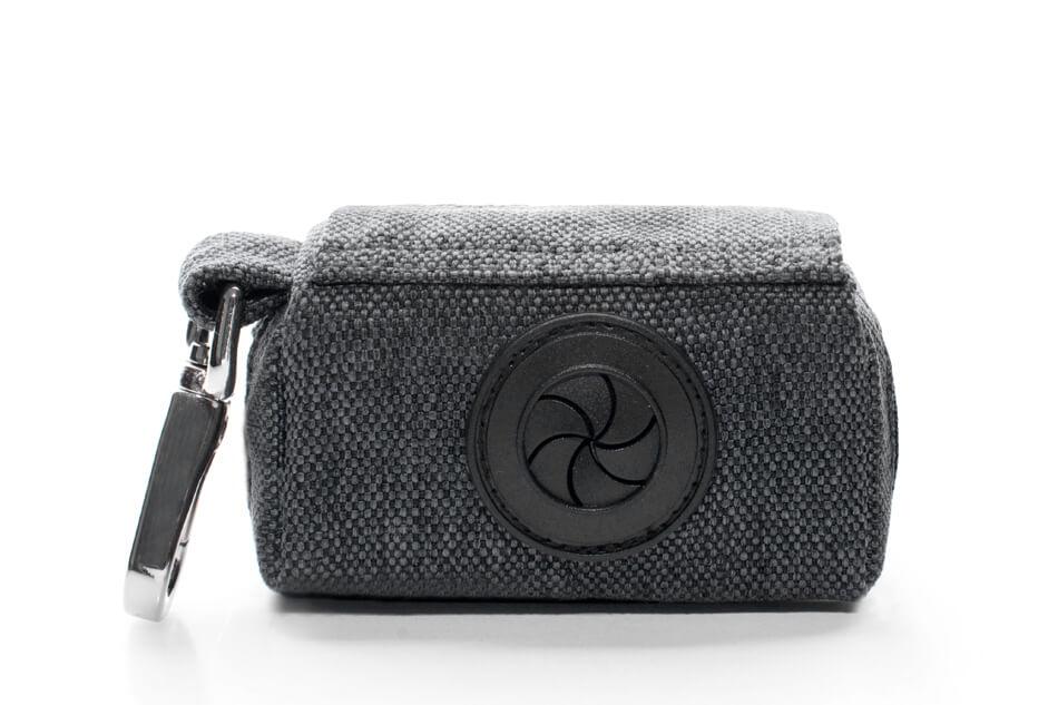 dog waste bag holder mini grey graphite bowlandbonerepublic ps2sa